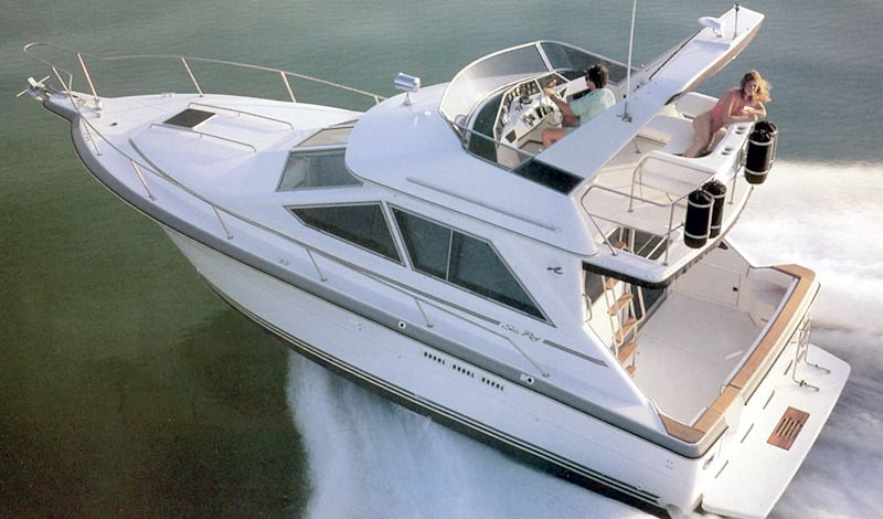 Powerboat guide boat reviews specifications reference tool the powerboat guide sea ray 345 340 sedan bridge publicscrutiny Images