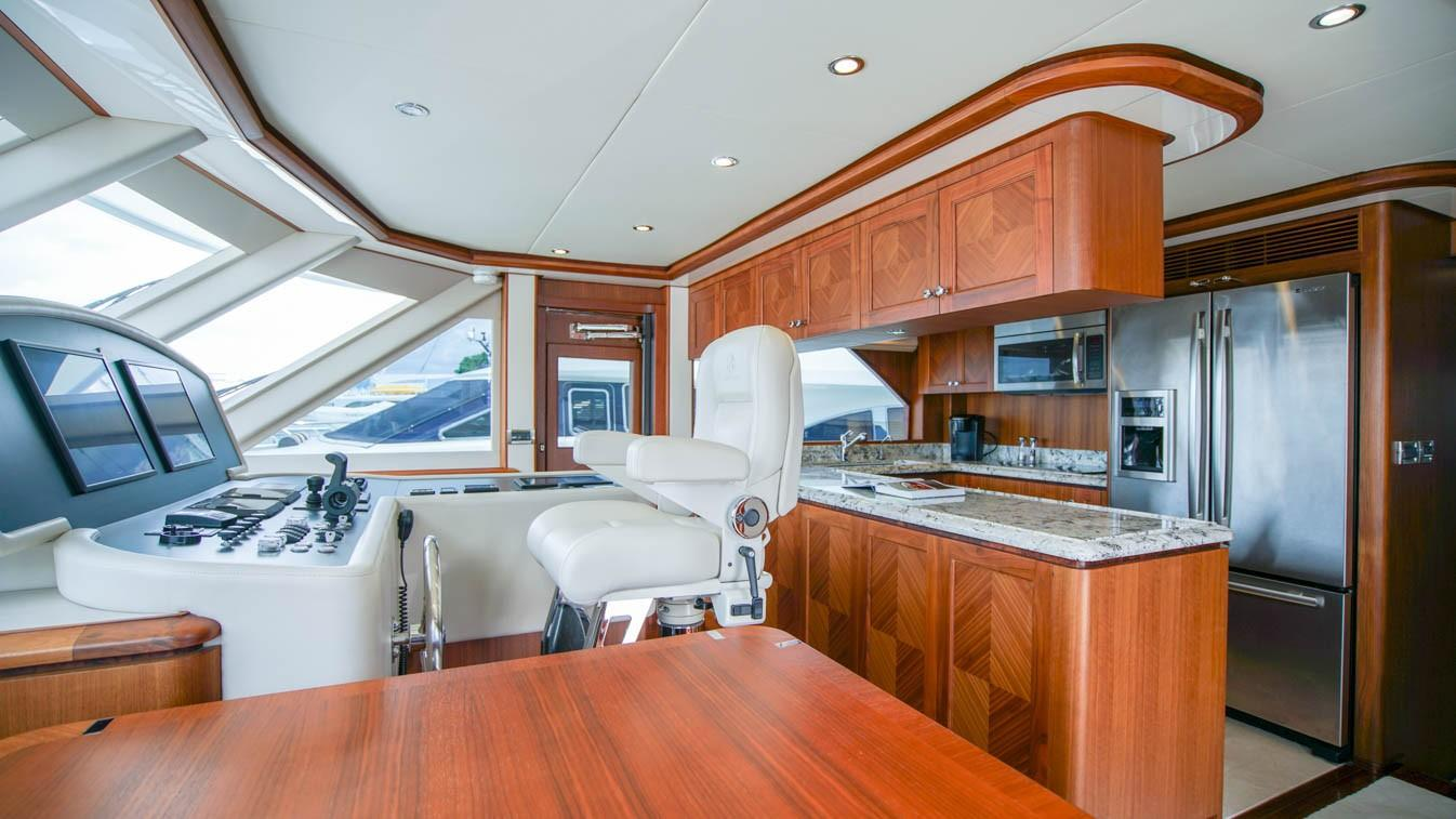 85 Ocean Alexander Lower Helm and Galley
