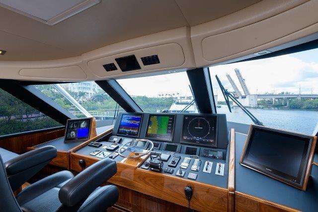 80 Viking Enclosed Flybridge-Electronics
