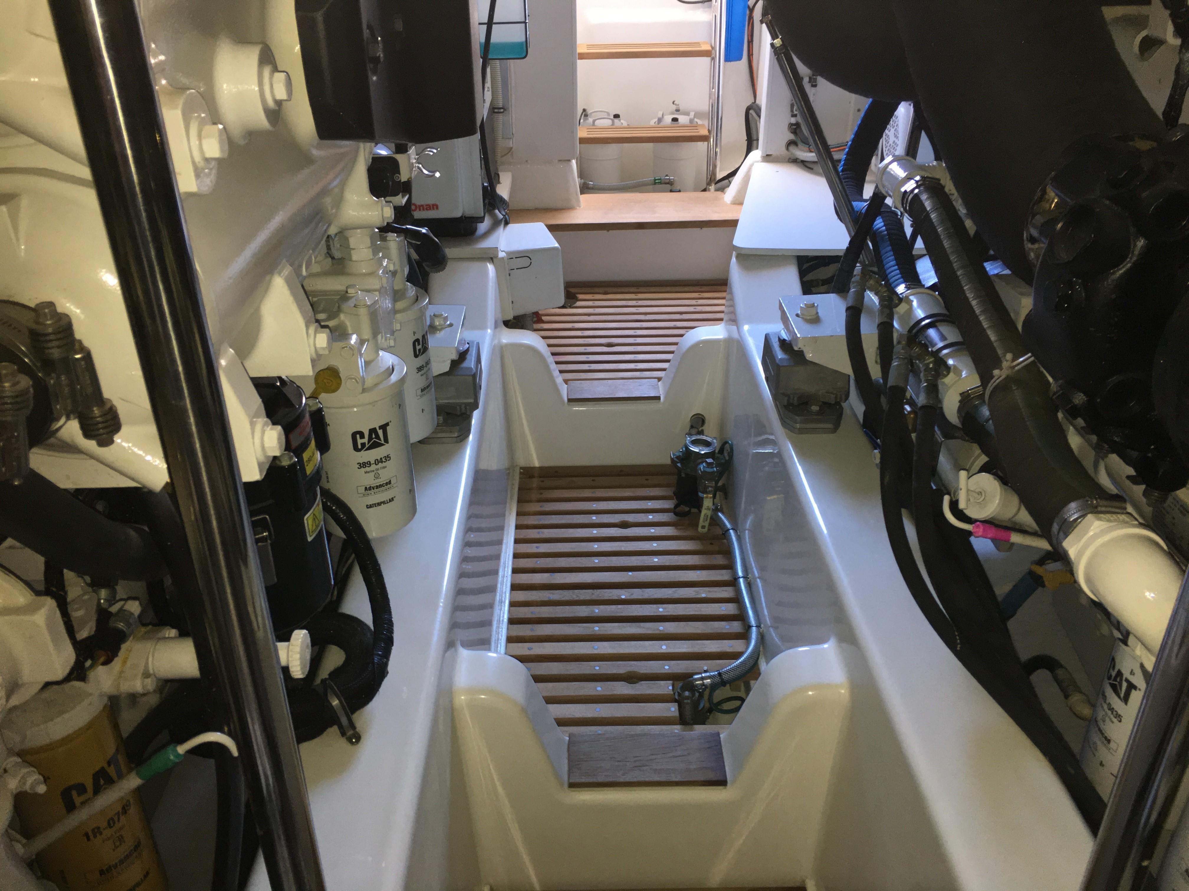55 Grand Banks Engine Room