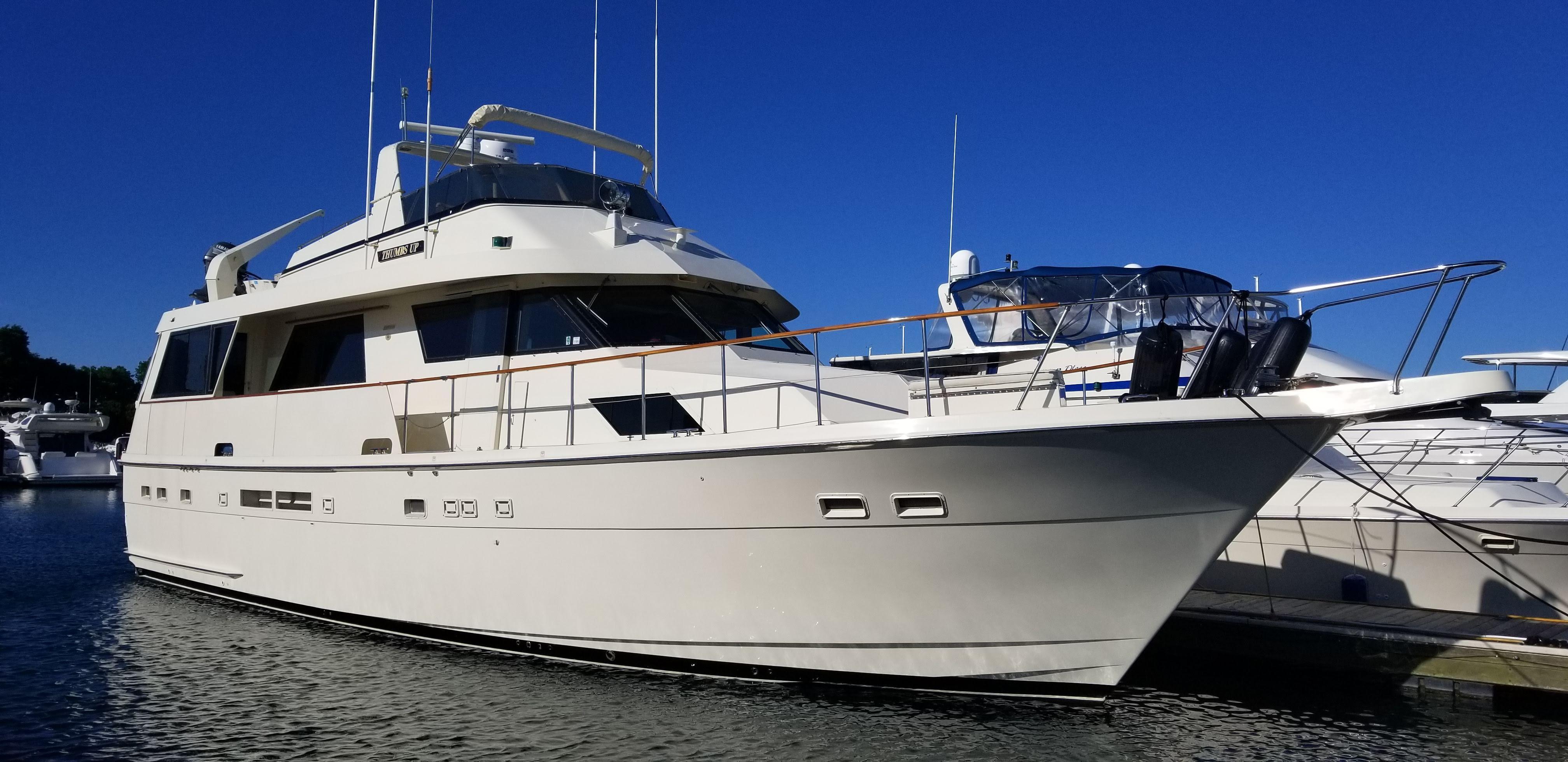 thumbs  hatteras   motor yacht  yacht  sale