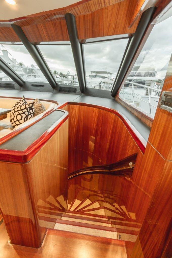 90 Ocean Alexander Stairs to Lower Deck