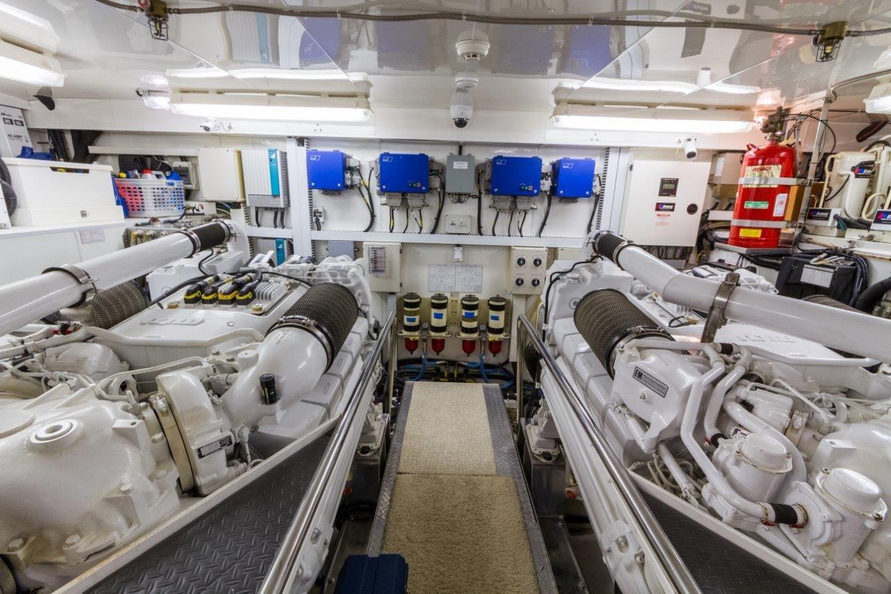 90 Ocean Alexander Engine Room