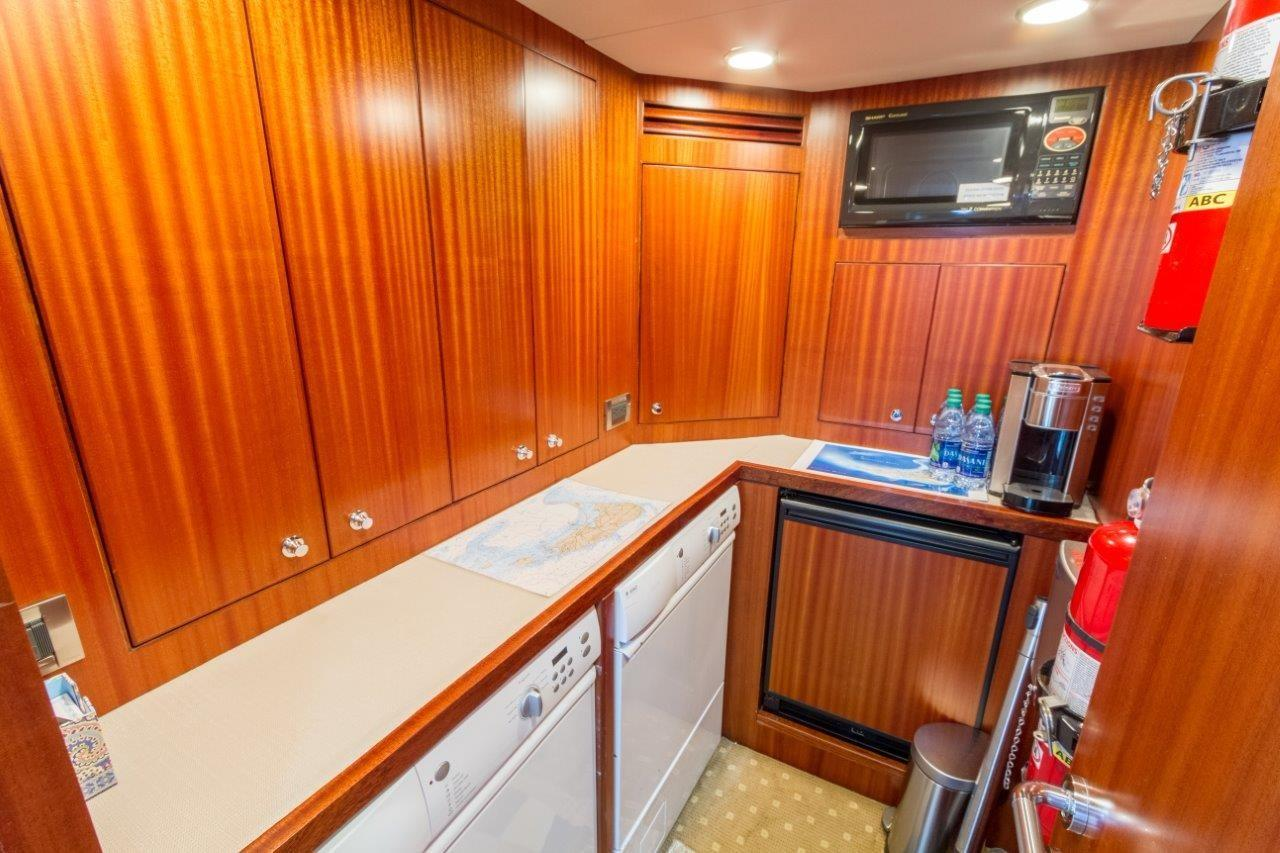 90 Ocean Alexander Crew Galley and Laundry