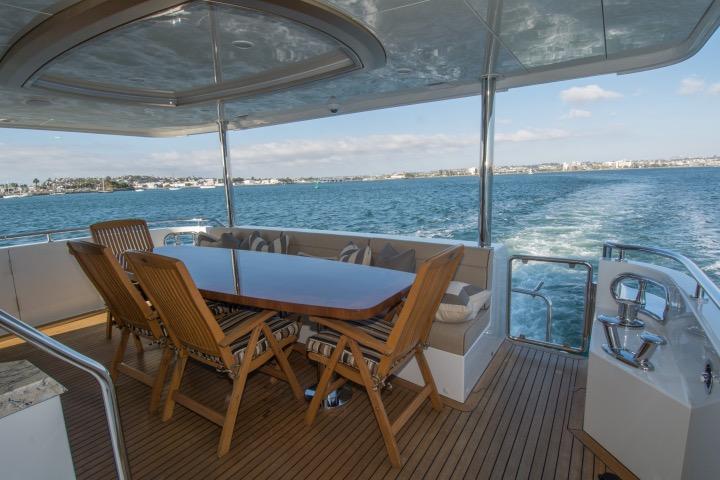 85 Ocean Alexander Cal deck table 2