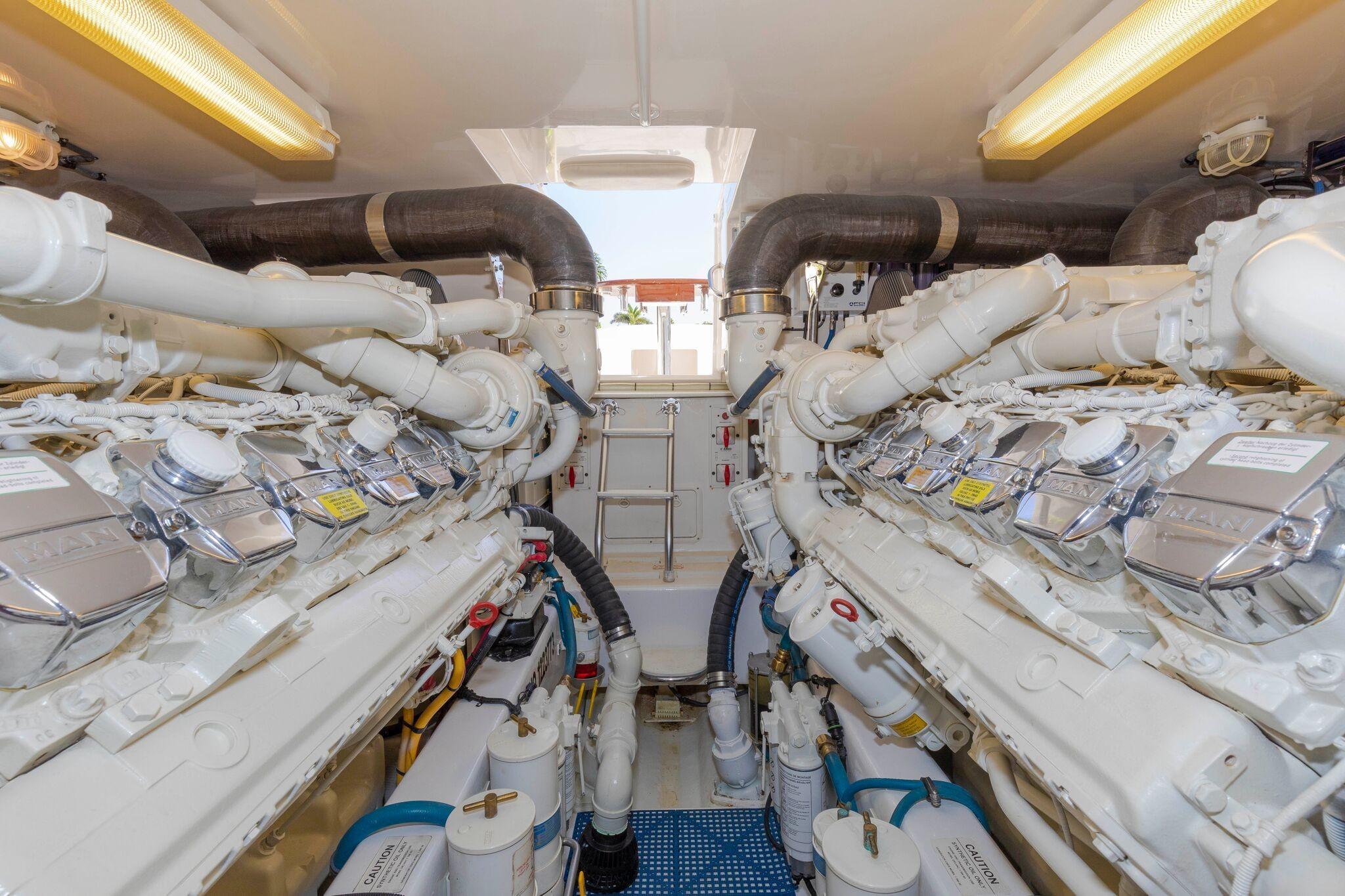 52 Cabo Engine Room