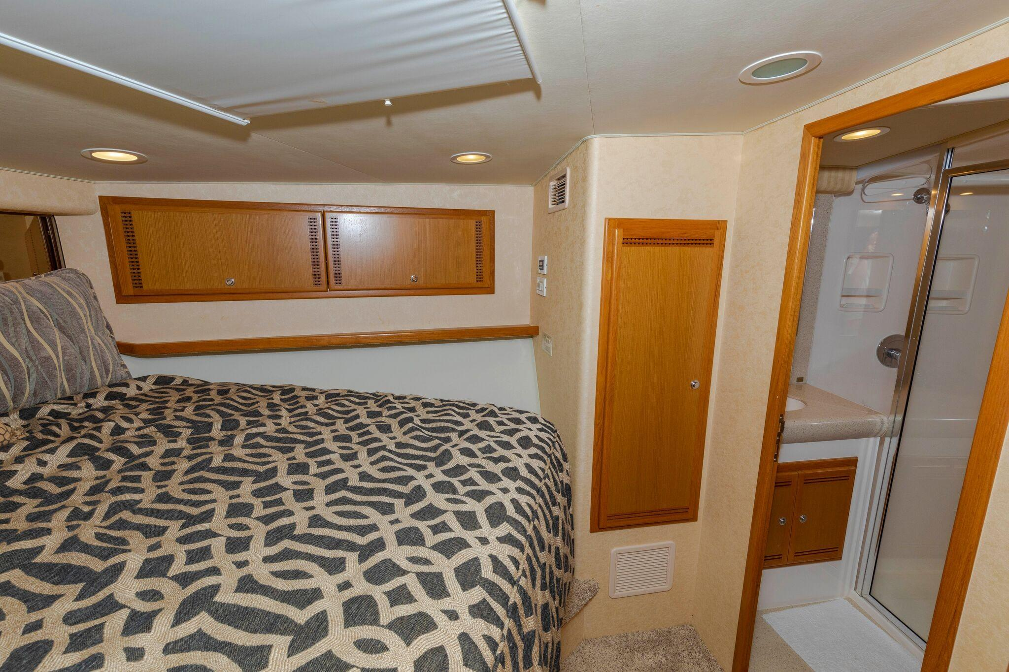 52 Cabo Master Stateroom to Starboard with Head