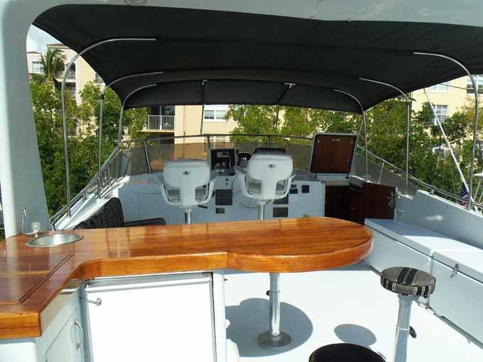 77 Hatteras Flybridge Bar