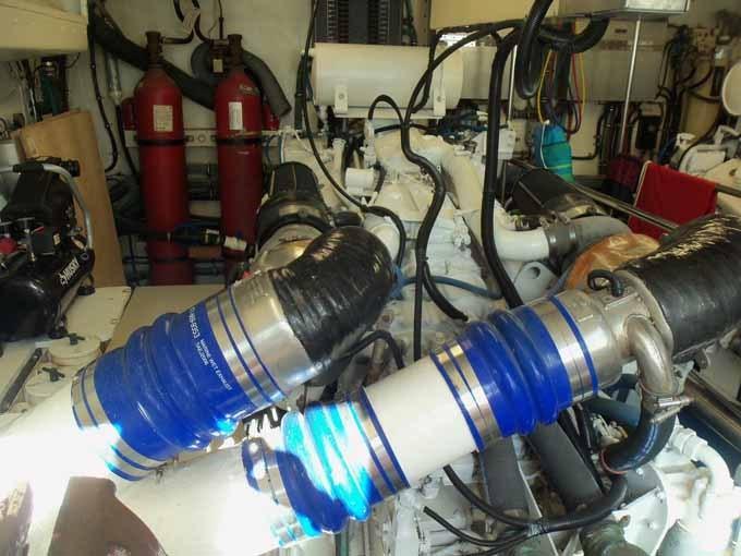77 Hatteras Port Engine