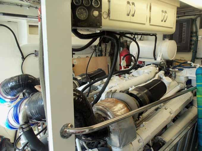 77 Hatteras Port Engine