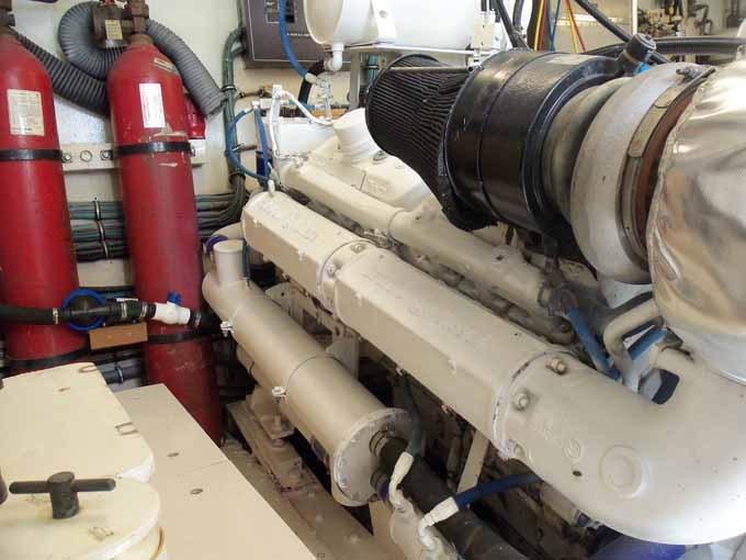 77 Hatteras Outboard Port Engine
