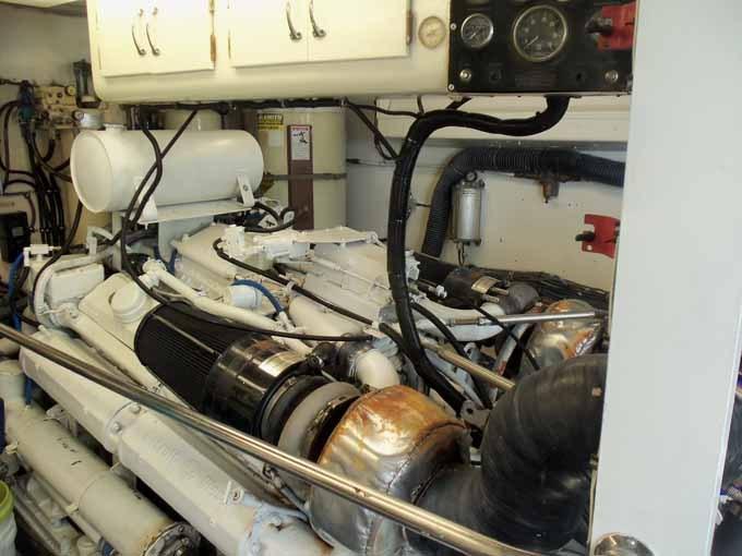 77 Hatteras Starboard Engine