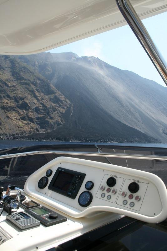 97 Ferretti Yachts fly bridge panel