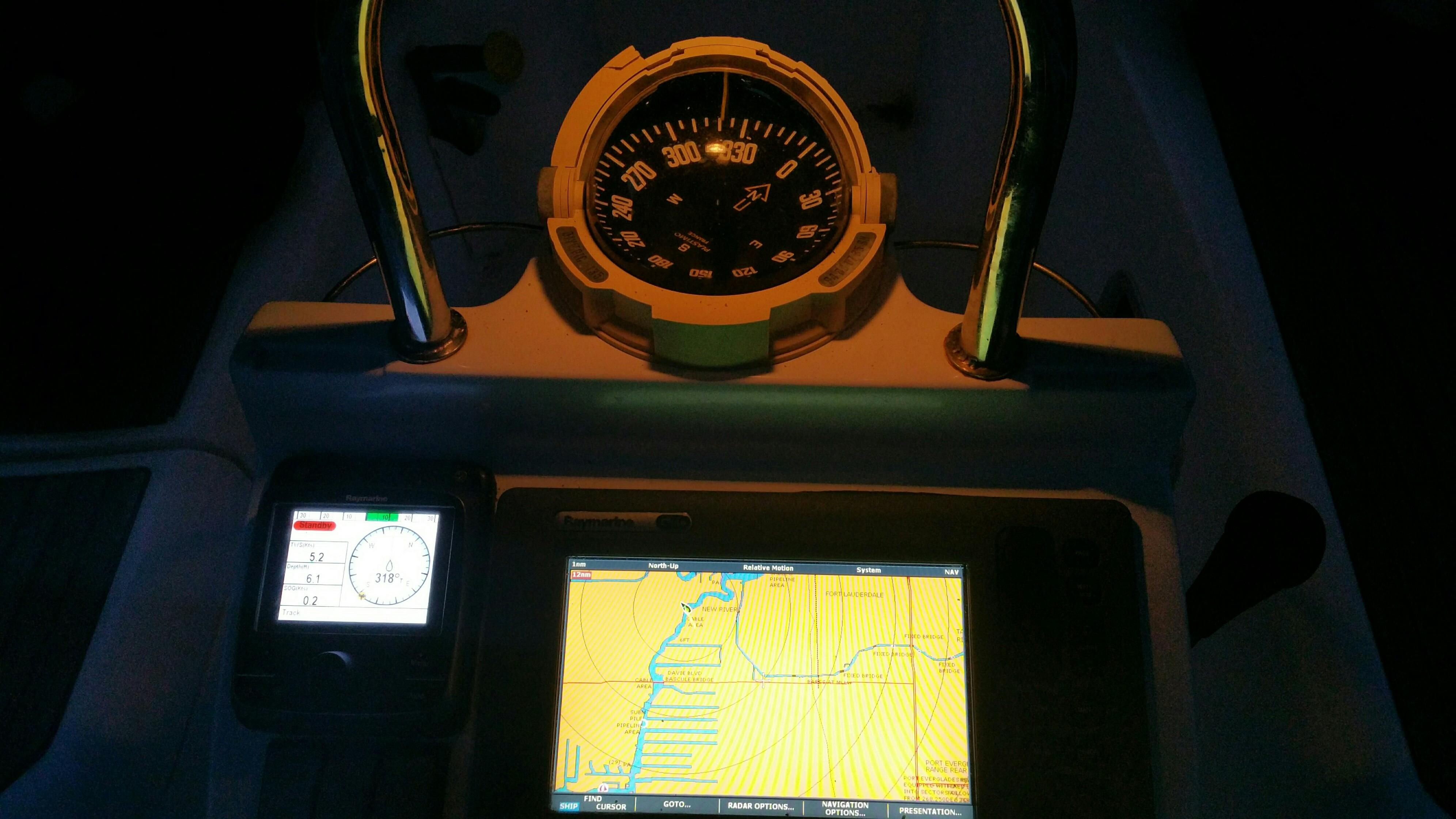 36 Beneteau Chart Plotter at helm