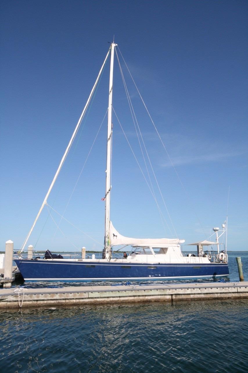 62 Deerfoot Deerfoot 62' - profile with full mast