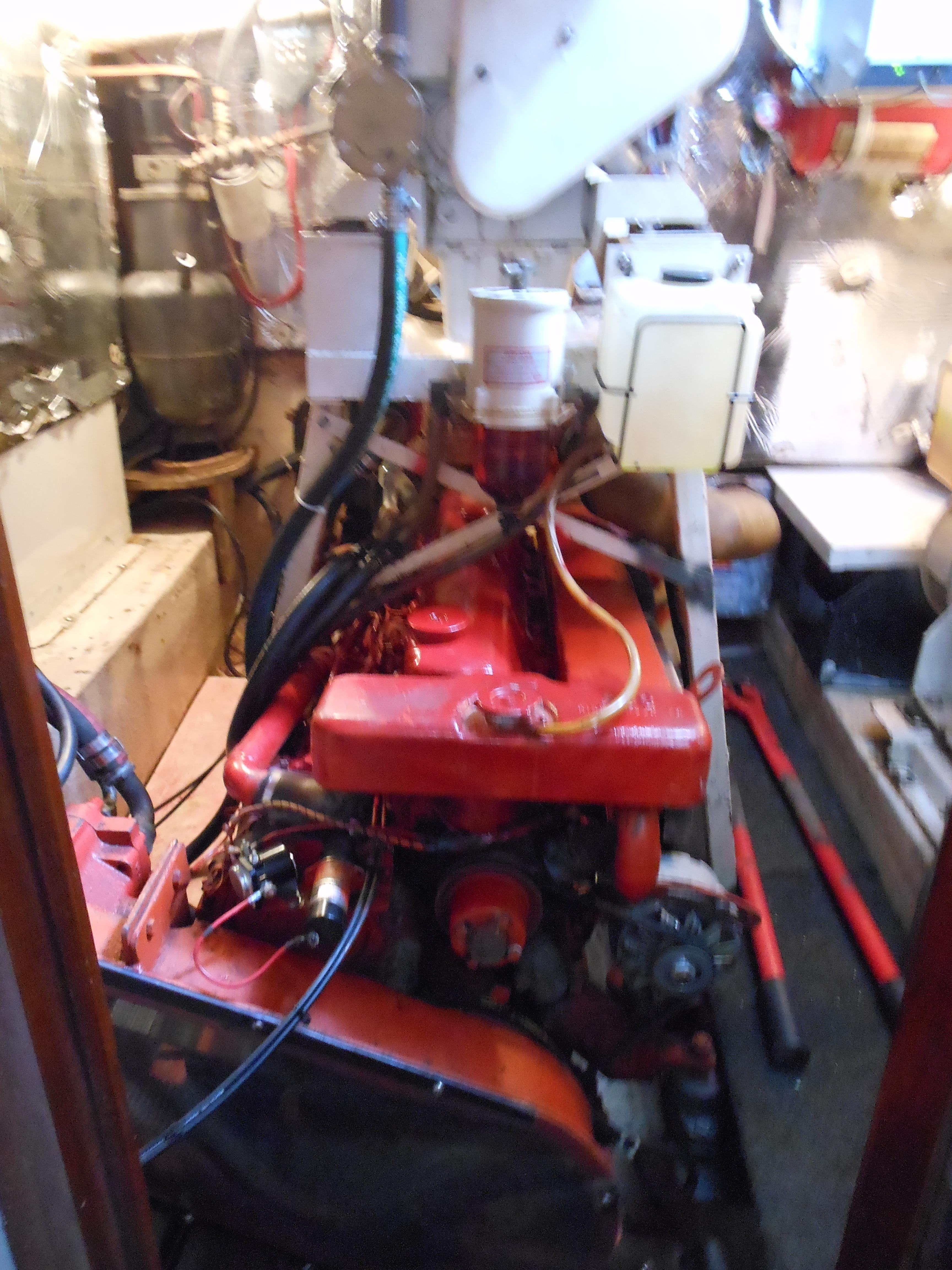 57 Wellington Main engine - 8KW generator above