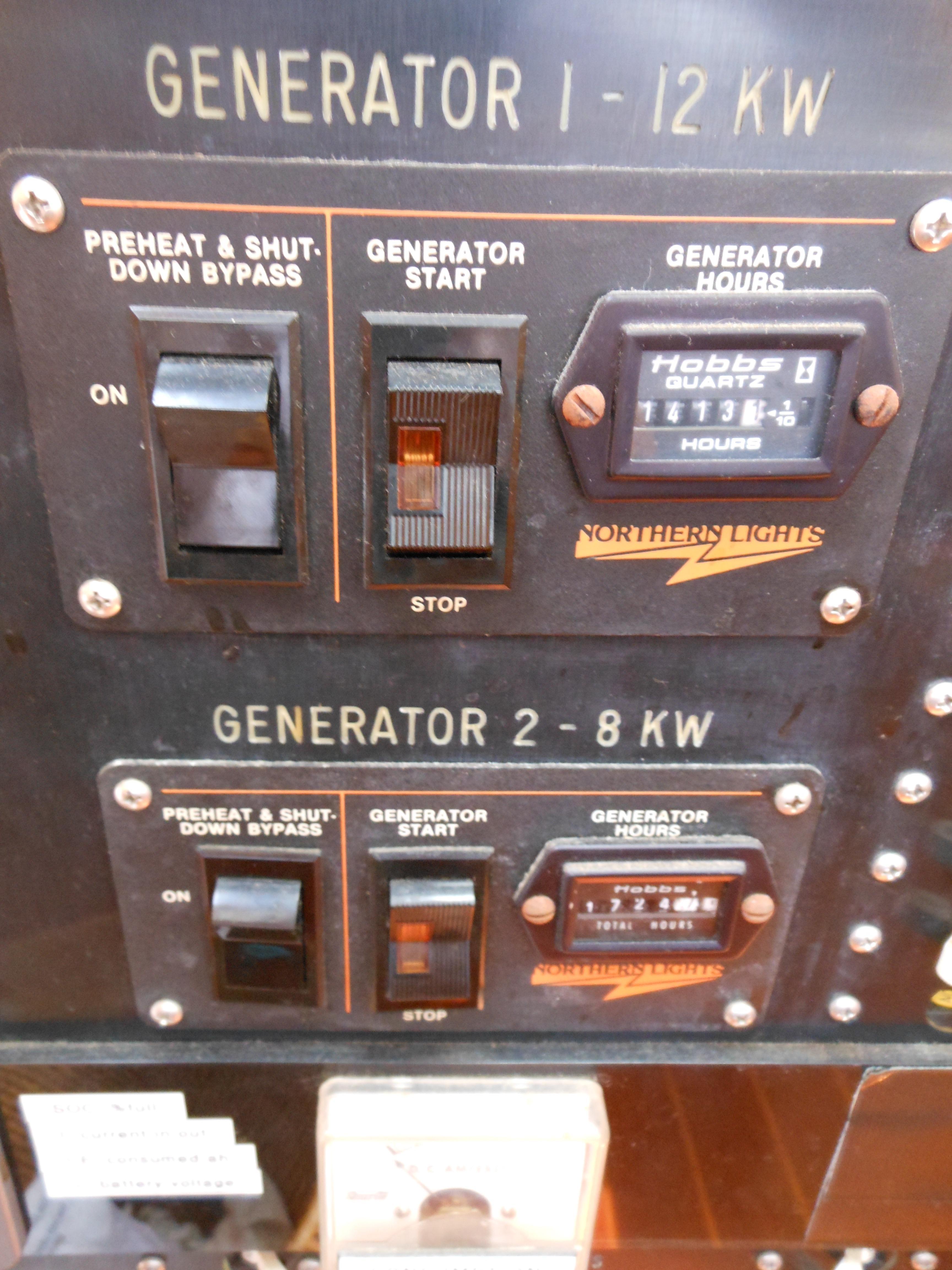 57 Wellington 2- generators 12kw - 8kw