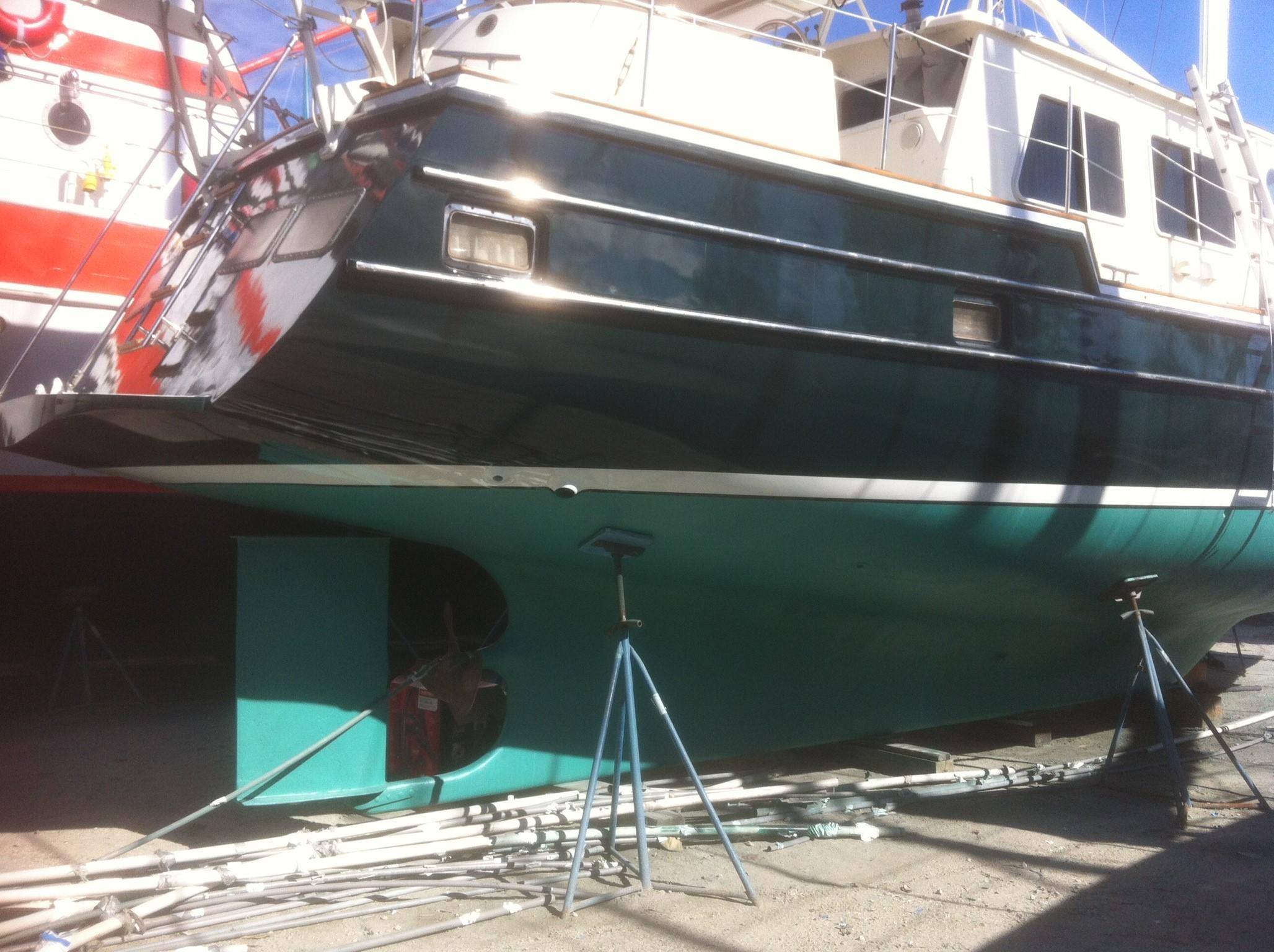 57 Wellington Protected Rudder - keel