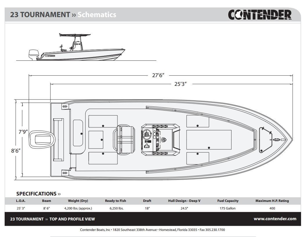 Contender Boat Schematics Electrical Wiring Diagram Thompson 23 2003 Dania Beach Florida Sold On 2016 10 14 By Denison Rh Denisonyachtsales Com Encore Schematic Tc