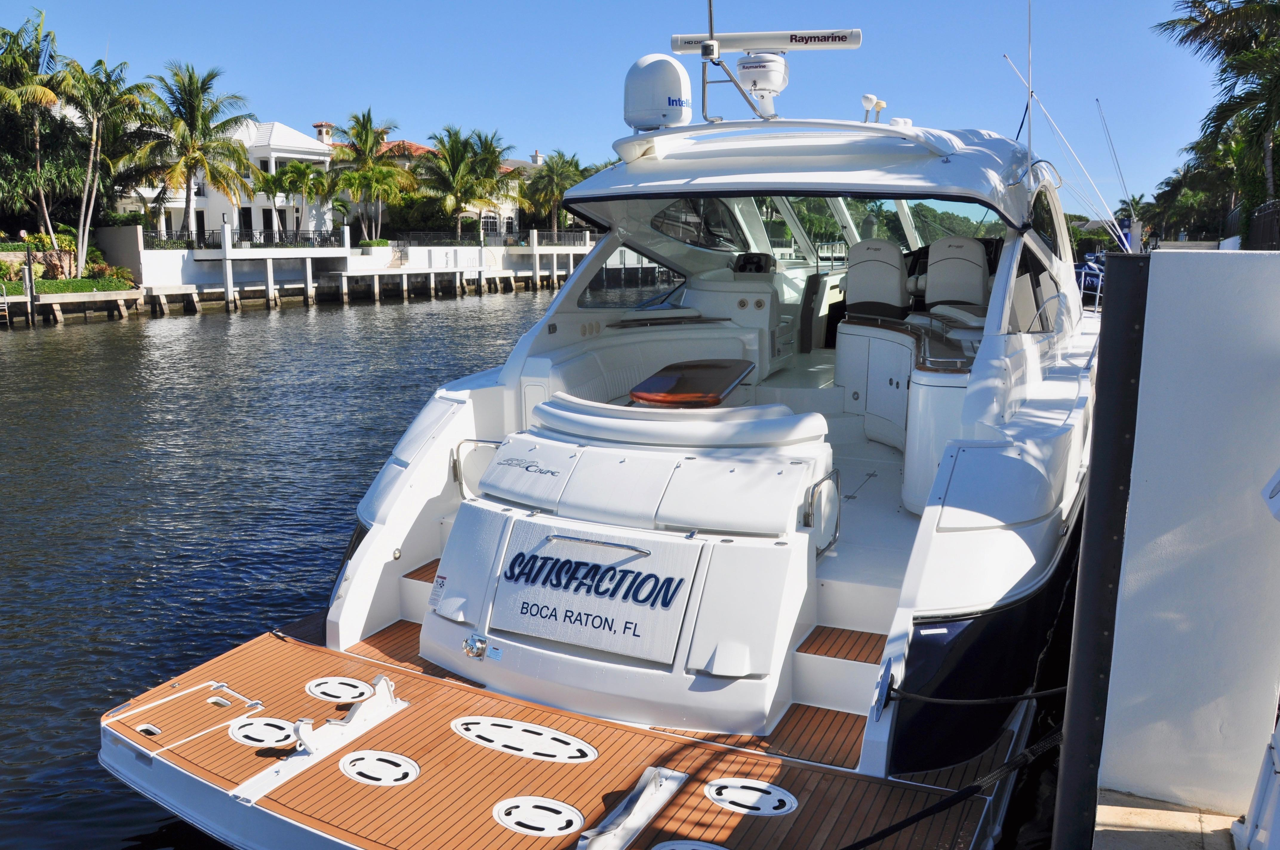 52 Cruisers Yachts 2009 Satisfaction Boca Raton Florida Sold On Wiring Diagram Transom View