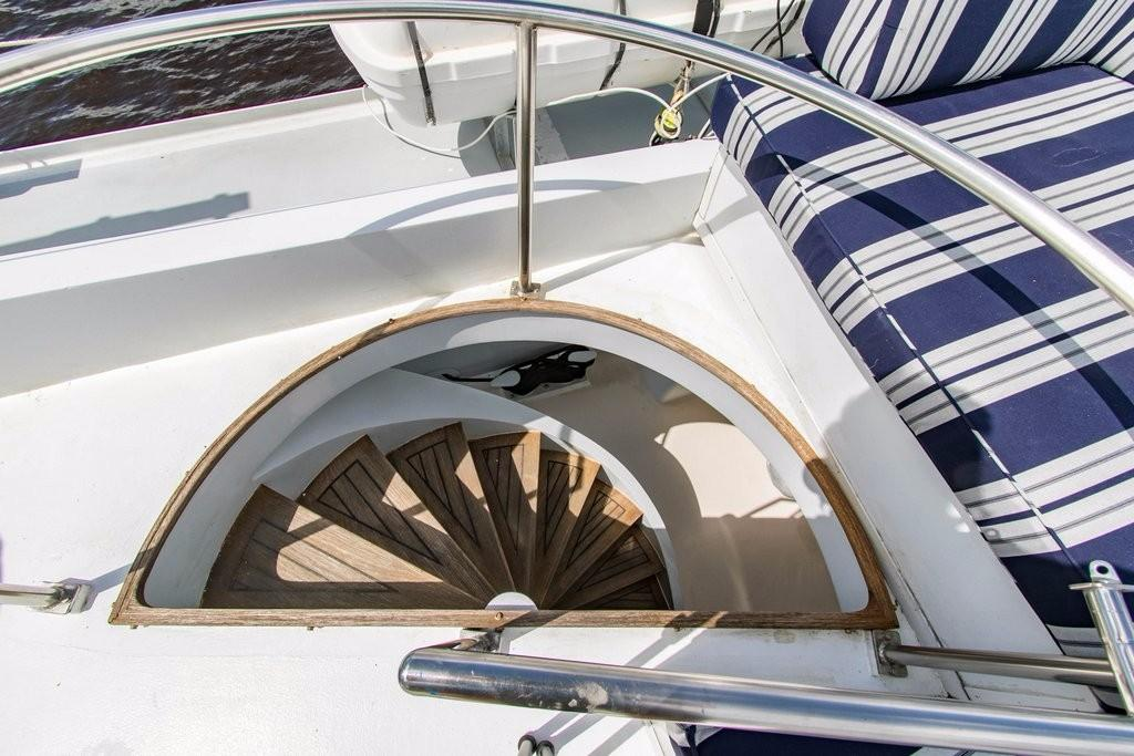 112 Benetti Stairway to lower aft cockpit