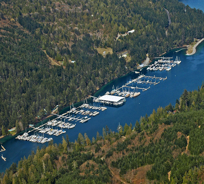 Pleasant Harbor Marina in Brinnon, WA