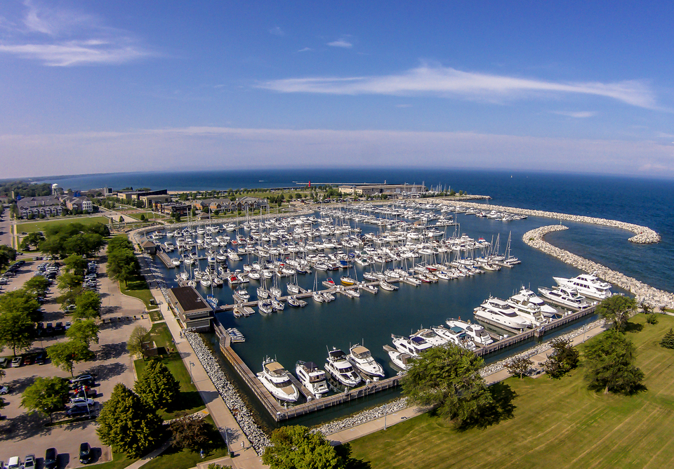 The Southport Marina in Kenosha, WI