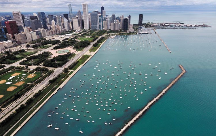 Monroe Harbor in Chicago, IL