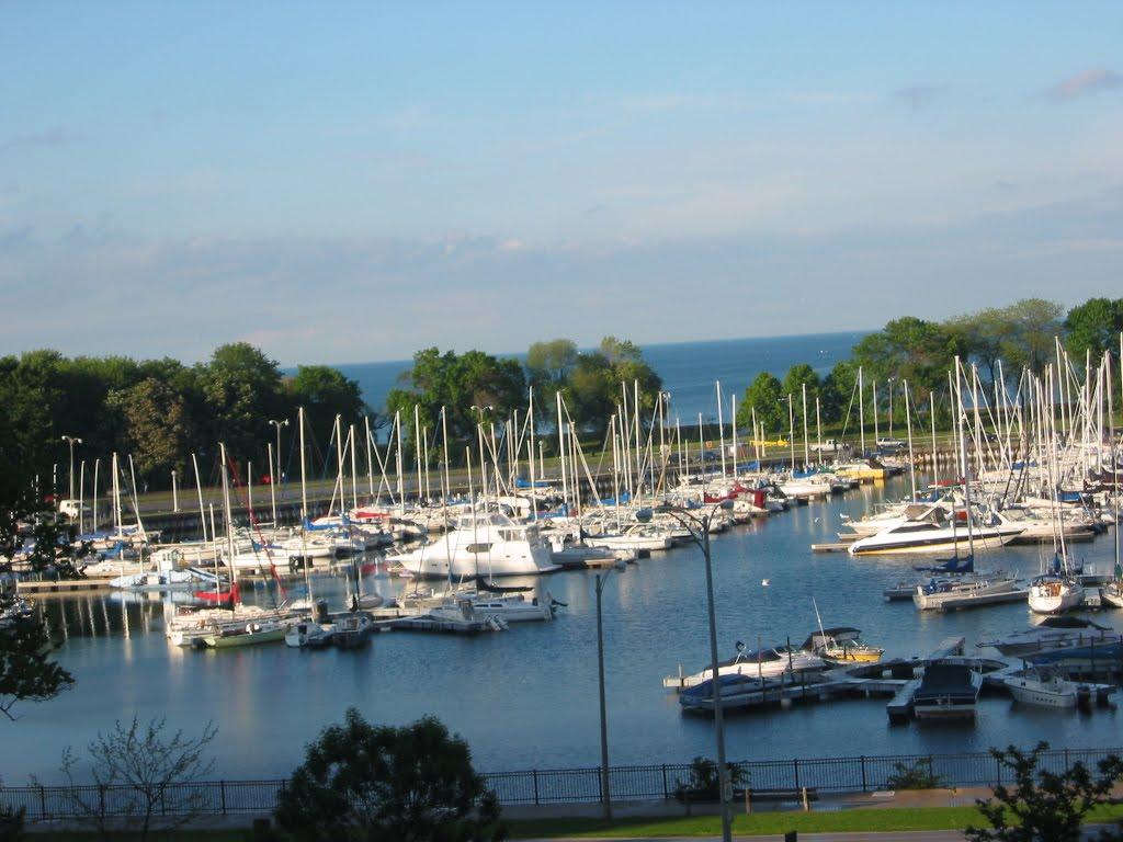Belmont Harbor in Chicago, IL