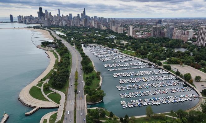 Diversey Harbor in Chicago, IL