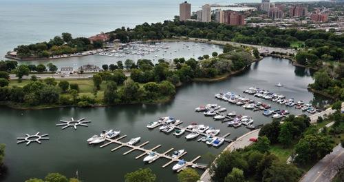 Jackson Park Inner Harbor in Chicago, IL