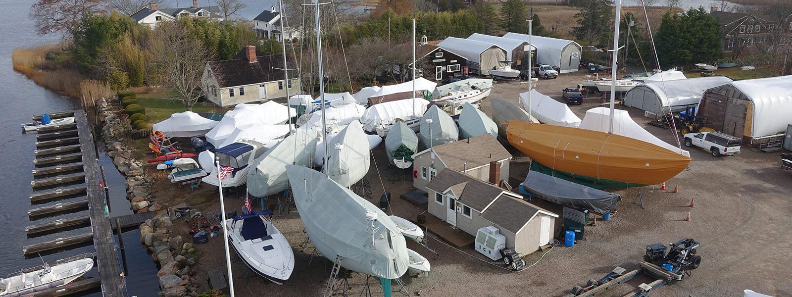 Frank Hall Boat Yard in Westerly, RI