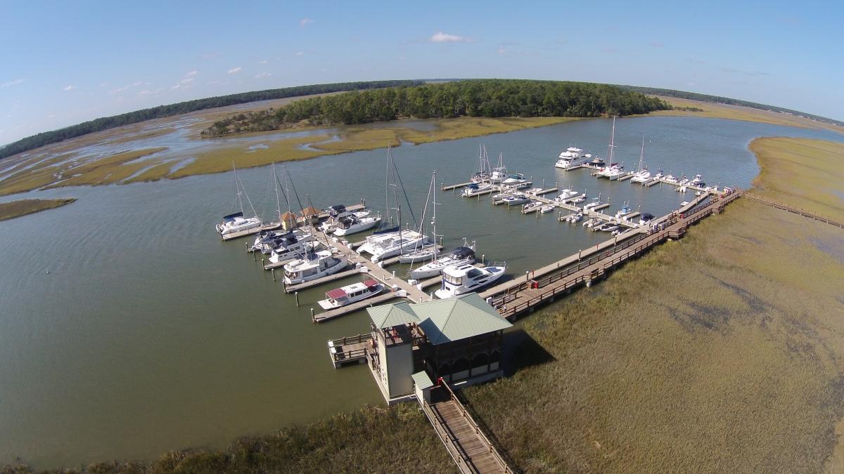 Delegal Creek Marina in Savannah, GA