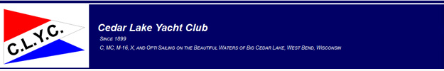 Cedar Lake Yacht Club BANNER