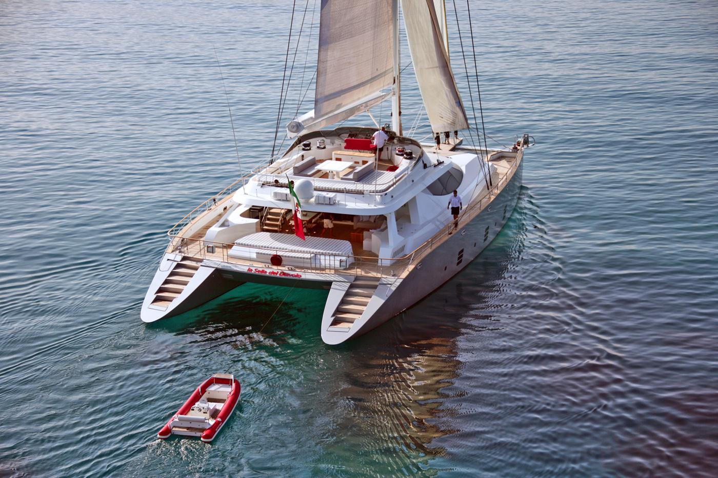 Denison Sells La Sella Del Diavolo 107′ Sailing Cat