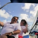 Russ and Sofia on boat