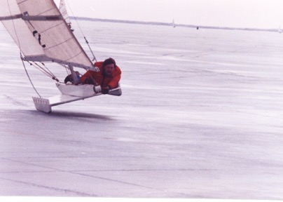 Mike Kiely - sailing ice boat