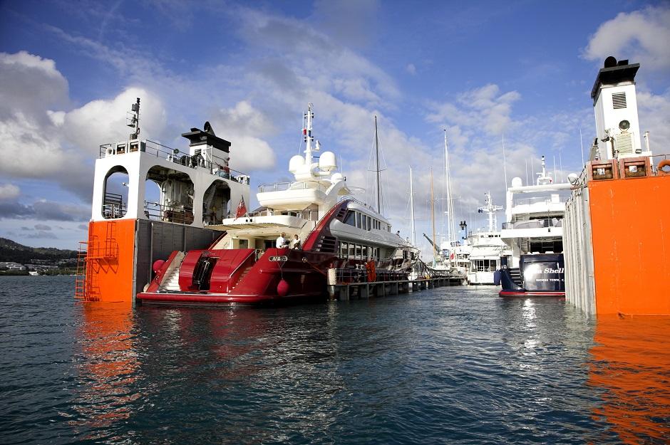 Sevenstar yachts floating
