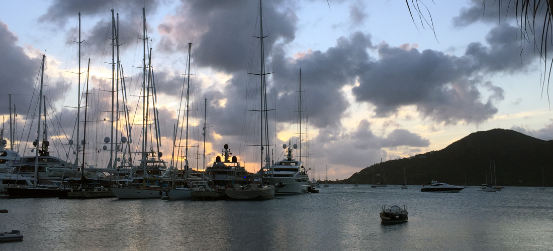 Yacht-Charter-Show-in-Antigua-Sunset