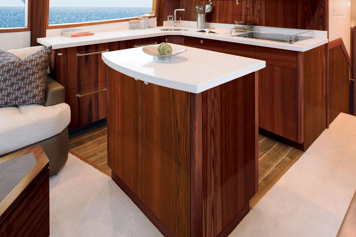 Hatteras GT54 — Island Style Galley
