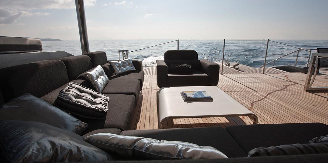 Cartouche Superyacht Catamaran Aft View
