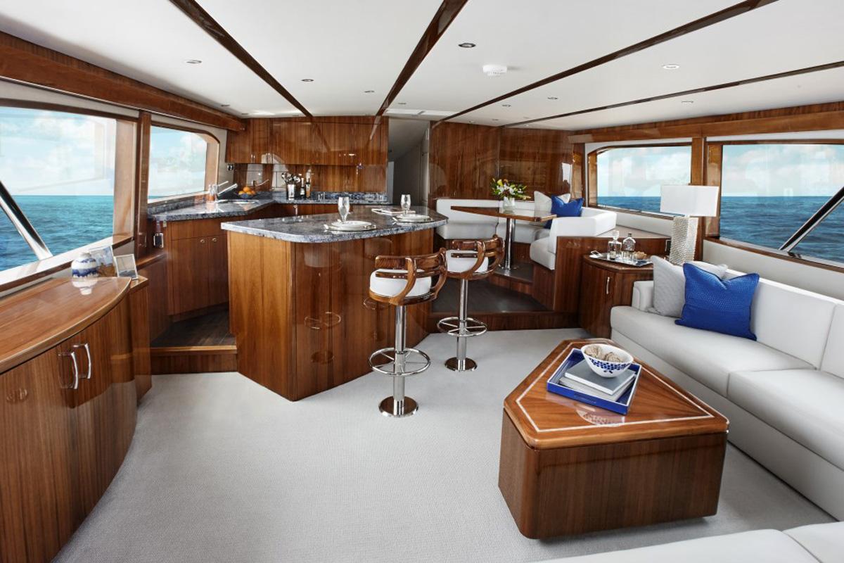 Hatteras GT70 — Class Leading Interior