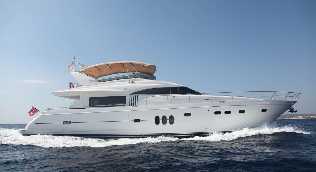 Princess 75 foreign flagged yacht