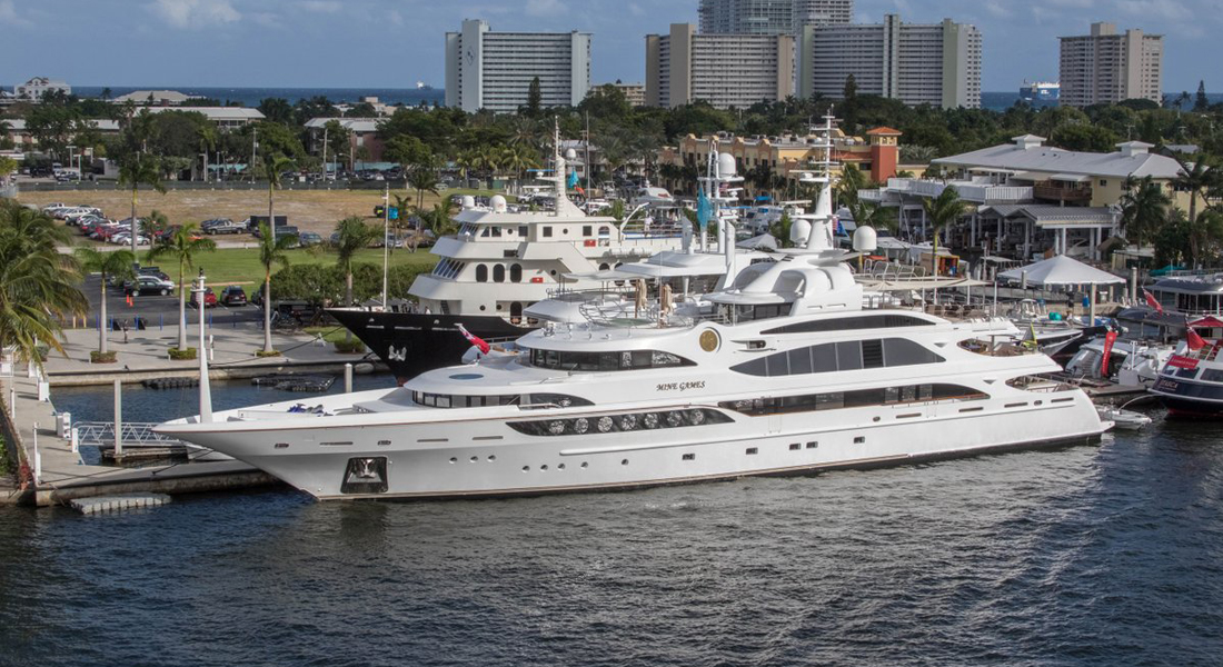 Denison Yacht Sales Mine Games Fort Lauderdale International Boat Show