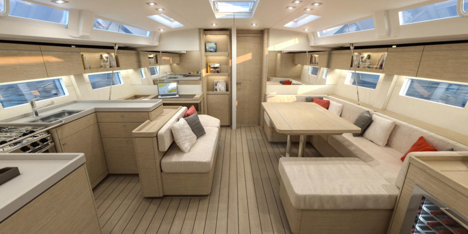 Beneteau Oceanis 51 — Salon