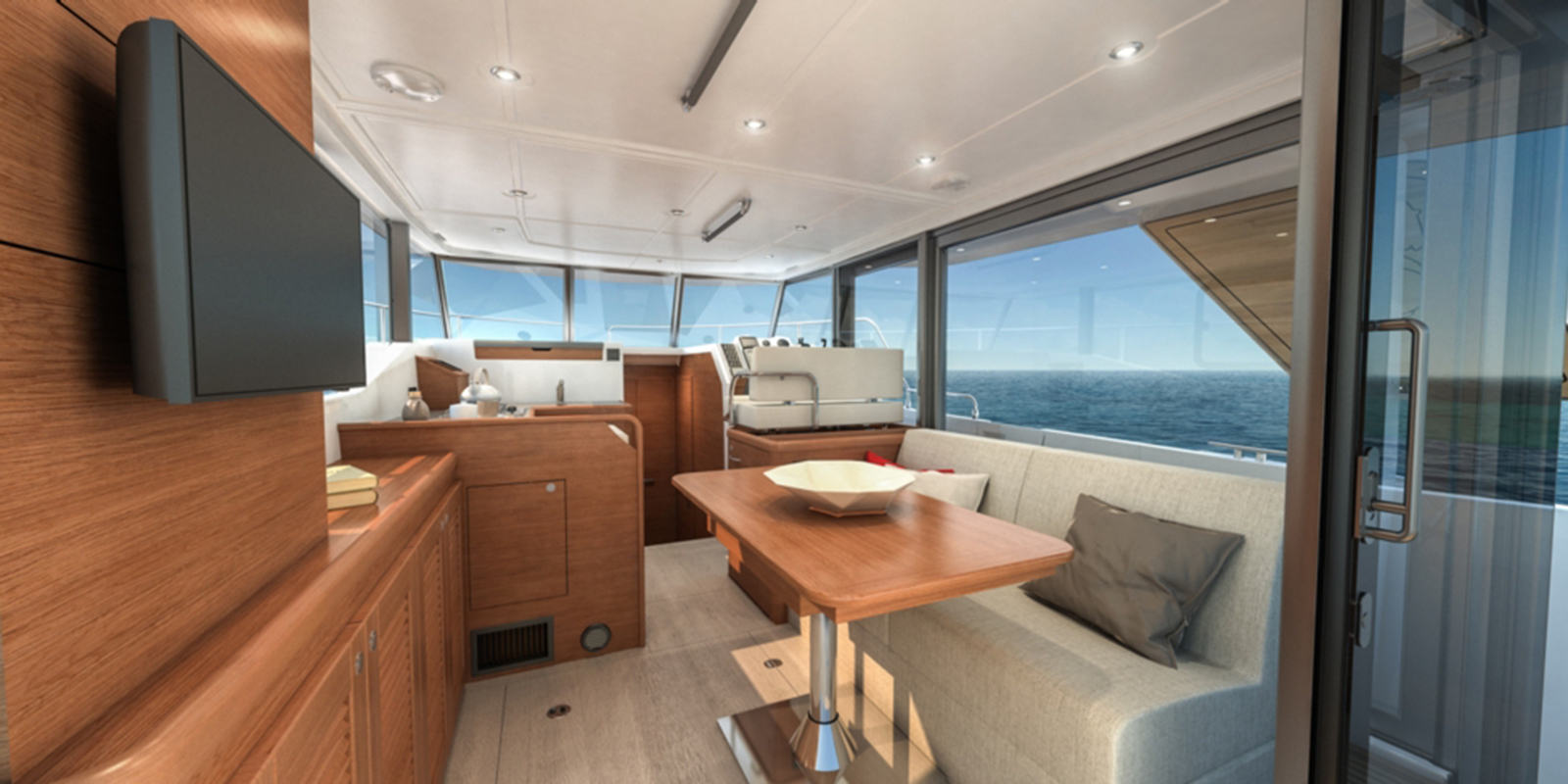 Beneteau Swift Trawler 35 — Salon Forward