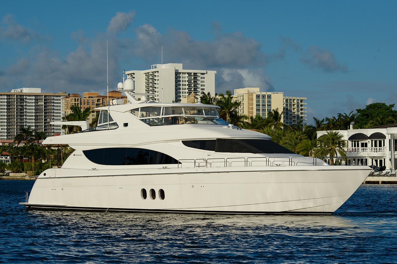 Hatteras 80 Motoryacht ELMIRAN Listed With Denison