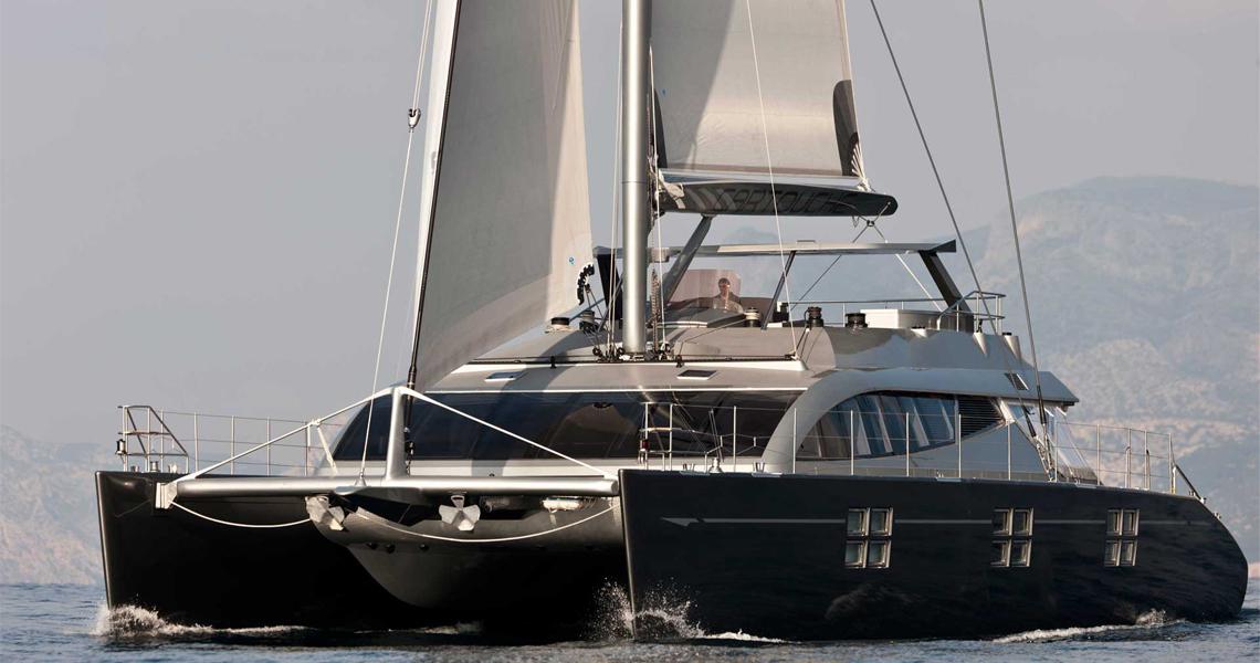 95 sailing catamaran Cartouche