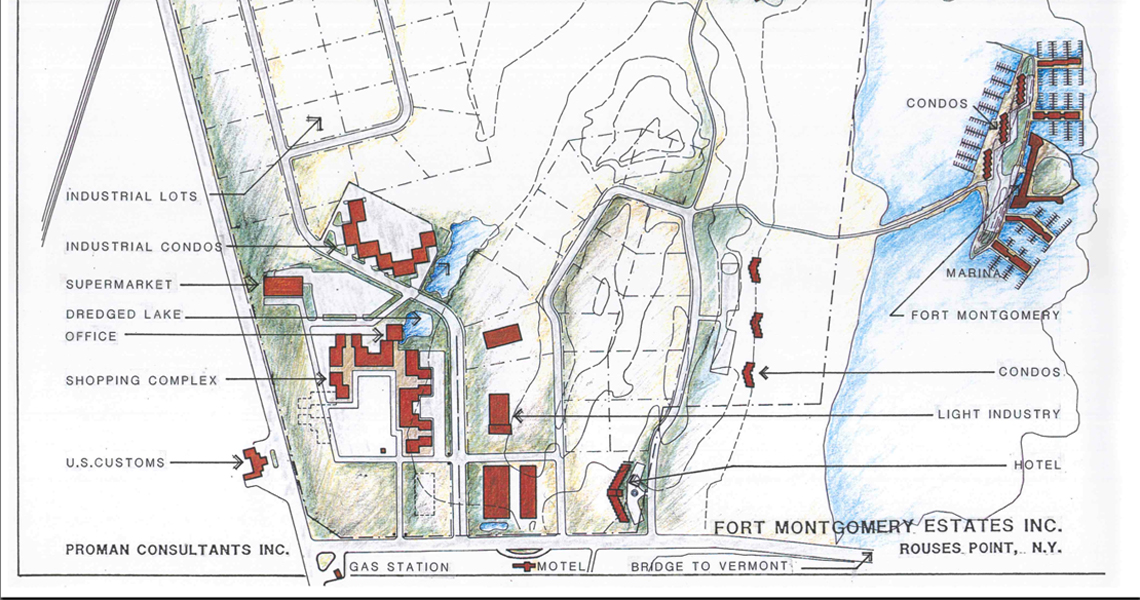 Fort Montgomery Island Site Map New York