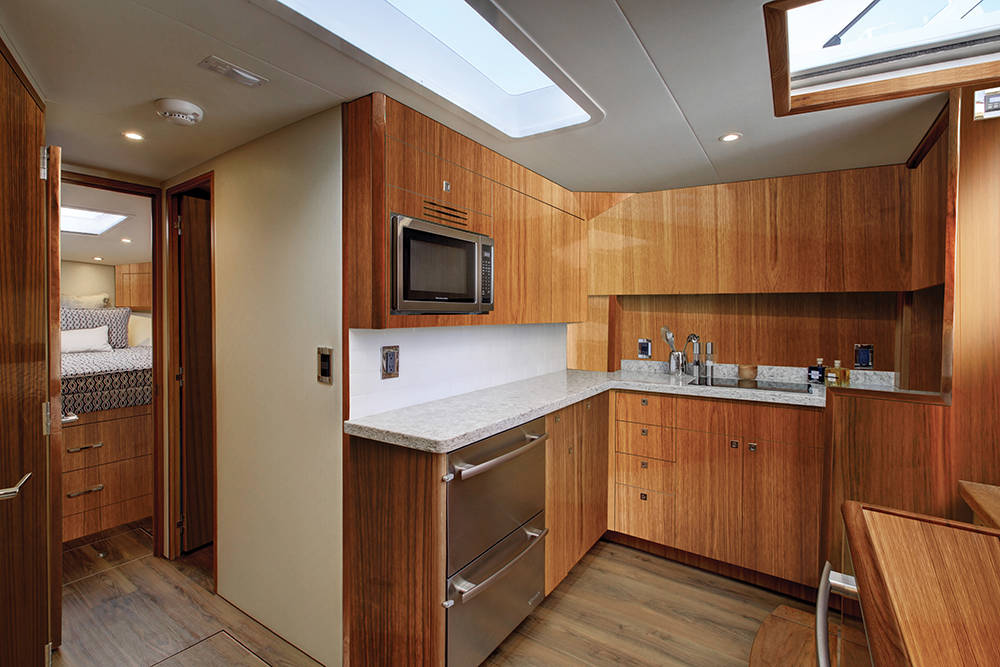 Hatteras GT45X Flybridge — Galley